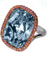 Natural-Fancy-Blue-Gray-Cushion-Cut-Diamond-Ring