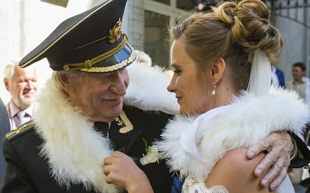 84 Year Old Russian Actor Marries His 24 Year Old Ex-Student And Wants To Start A Family - World Of Buzz