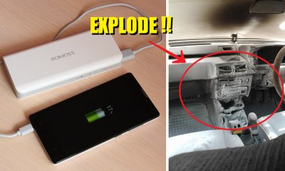 Malaysian's Car Caught On Fire After He Left Power Bank Inside - World Of Buzz 1