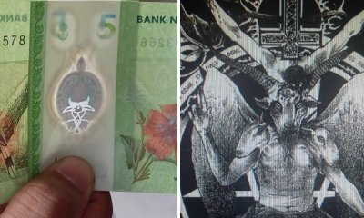 This Guy Found That Putting Two RM5 Notes Will Create A Sign of The Devil - World Of Buzz