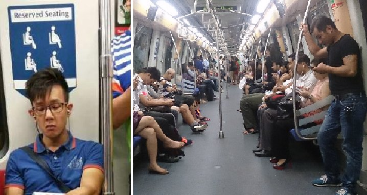 Young Male Ignored Giving Seat To 8 Months Pregnant Lady on Train - World Of Buzz