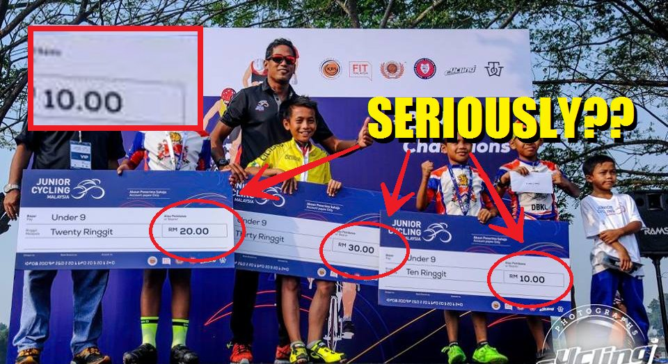 Malaysians Don't Know Whether To Laugh or Cry At Prize Money Awarded For Cycling Competition - World Of Buzz
