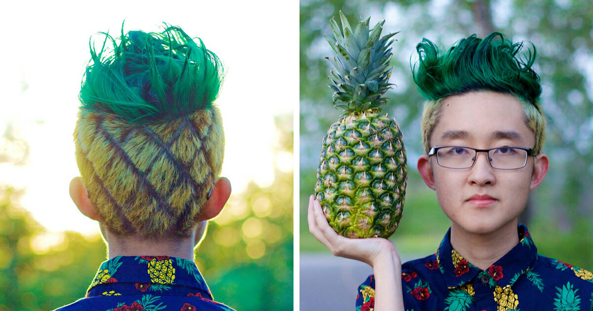 """The """"Pineapple Haircut"""" May Be The Next New Thing To Sweep The World - World Of Buzz"""