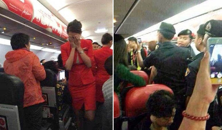 Chinese Passenger Threw HOT Water From Cup Noodle at AirAsia Flight Attendant - World Of Buzz 1