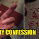 Girl writes love note in blood! - World Of Buzz 1