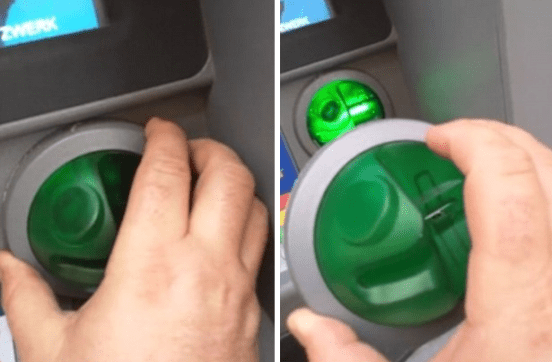 Security Expert spot and Rips Off cash machine skimmer on an ATM with bare hands - World Of Buzz 10