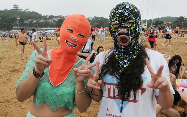 Bikini's Are Ditched In Favour of Face-kini's This Summer in China - World Of Buzz 1