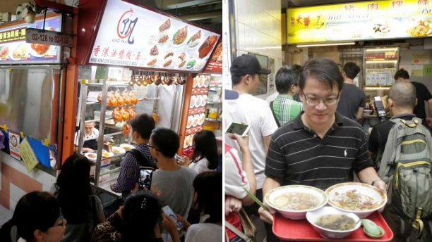Humble Singapore Hawker Stalls Crowned A Michelin Star And Crowds Go Wild - World Of Buzz