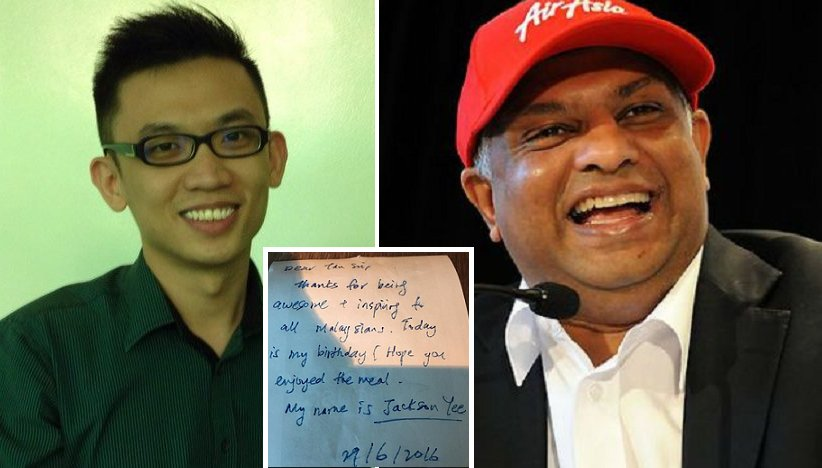 Man Secretly Paid For Tony Fernandes' Lunch, Receives A Surprise Gift In Return - World Of Buzz 3