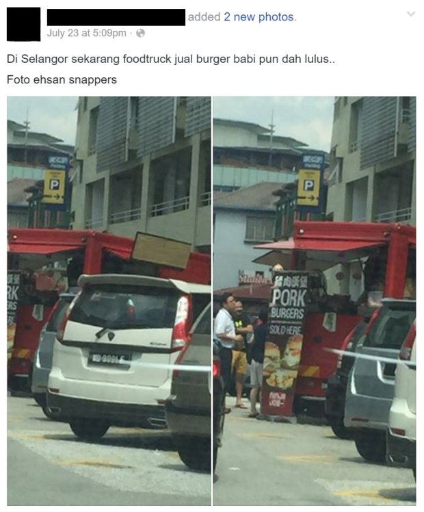Some Malaysians are Outraged Over Foodtruck that Sells Pork Burger - World Of Buzz 1