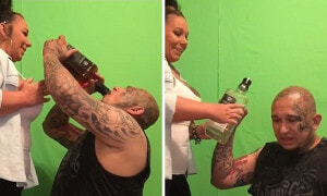 Texas man downs 2 litres of Whiskey in 55 seconds - World Of Buzz