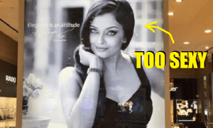 "Watch Shop In Petaling Jaya Fined Over Two ""Sexy"" Posters of Bollywood Actress Aishwarya Rai - World Of Buzz"