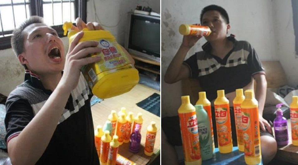 Chinese Dude that Drinks Detergent Wonders why Women Don't Want Him - World Of Buzz 2