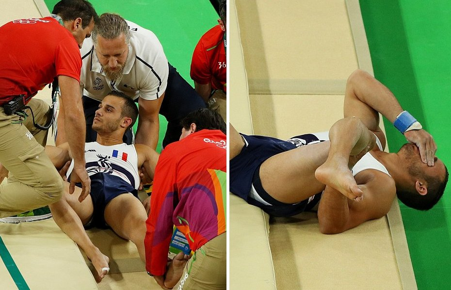 French Gymnast Snaps his leg is most Gruesome way during 2016 Olympics in Rio - World Of Buzz 3