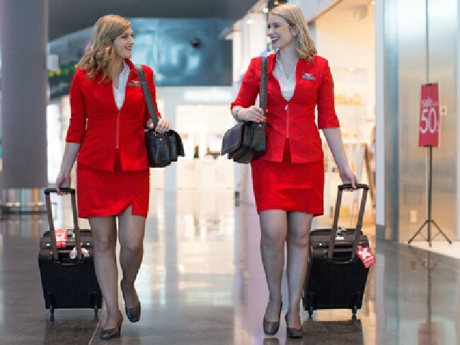 "New Blonde Air Asia Stewardess are the new ""Rock Star"" of the crew - World Of Buzz 1"