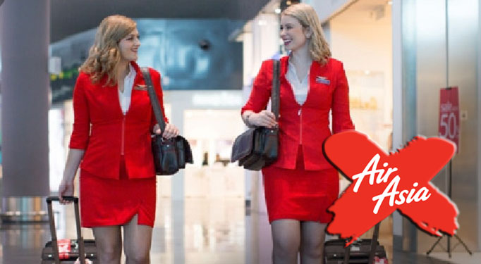 "New Blonde Air Asia Stewardess are the new ""Rock Star"" of the crew - World Of Buzz 5"