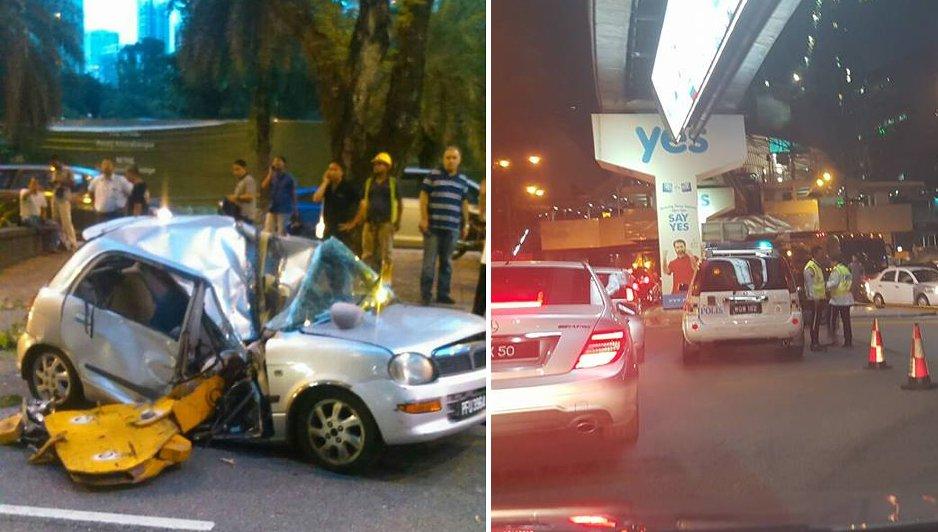 Woman Killed At Bukit Bintang When Part Of Crane Falls On Her Car - World Of Buzz 1