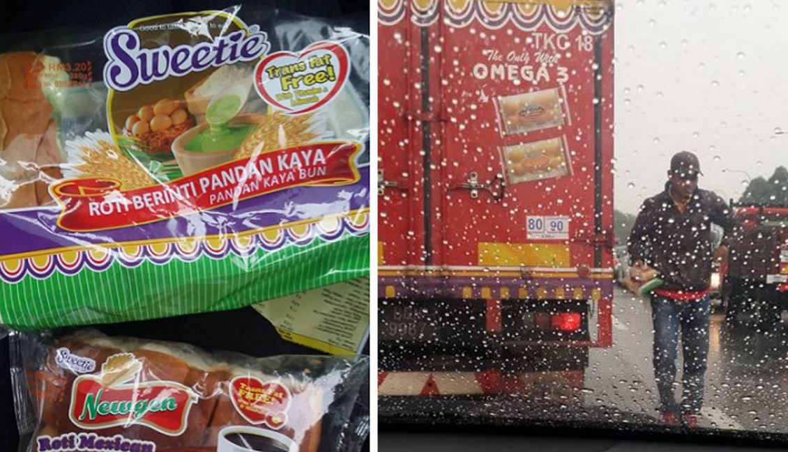 Bread truck gives bread to mother whose child was hungry whilst caught in traffic - World Of Buzz 1