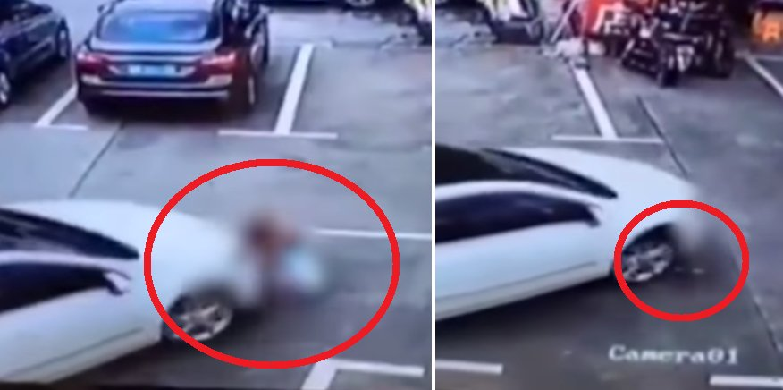 Chinese Woman Uses Phone Whilst Driving, Accidentally Runs Over Three Kids - World Of Buzz 2