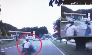 Heartless motorcyclist hits school girl and rides off - World Of Buzz 3