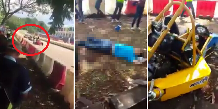 Horrifying Malaysian 'Final Destination' Moment As Go-Kart Lost Control, Killing Spectating Dad & Child - World Of Buzz 1