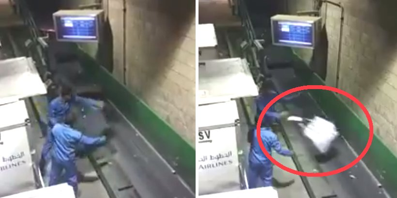 Shocking Video: Airline Staff Roughly Tossing Bags On Baggage Conveyor - World Of Buzz 3