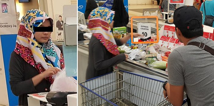 "Stubborn Malaysian Abused ""Express Counter"" in Tesco Despite Being Advised Not To - World Of Buzz 3"