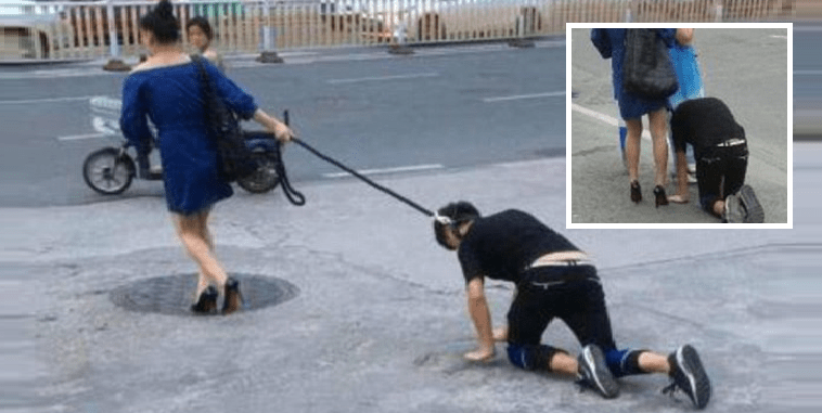 Woman Takes Man For A Walk, Doggy-Style! (Literally) - World Of Buzz 5