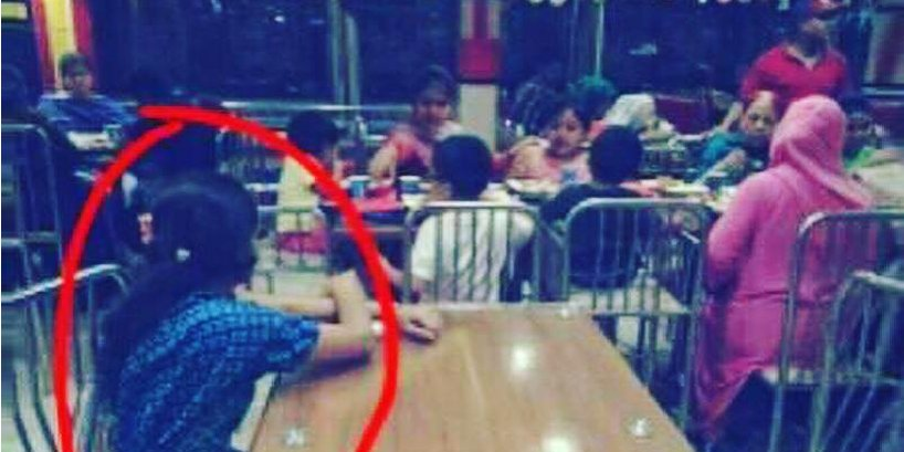 Domestic Worker Put At Different Table While Family Feasts In A Restaurant, Netizens Are Extremely Upset About This Abuse - World Of Buzz
