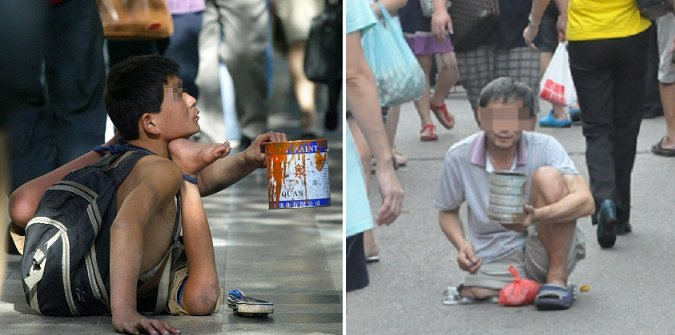 Foreign cripples brought in by Chinese gang to beg on the streets of Malaysia - World Of Buzz 1