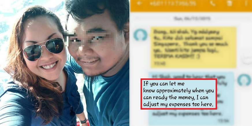 Kind-Hearted Malaysian Helps Stranded Singaporean By Lending RM750, But... - World Of Buzz