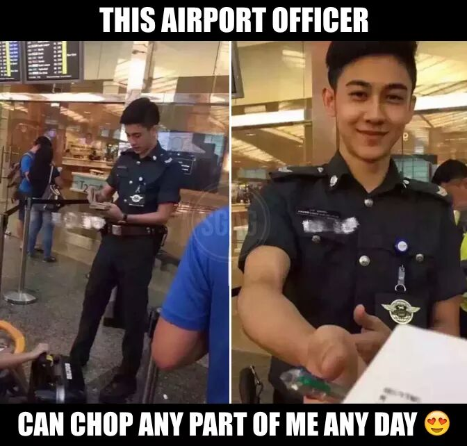 WANTED person: Cute Singaporean Airport Officer - World Of Buzz