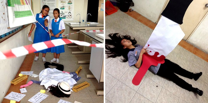 Young Malaysian Teacher Receives Praises After Turning 'Boring' Test Practice Into Creative Murder Mystery! - World Of Buzz