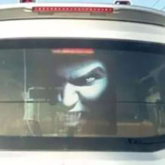 China Drivers Use Creepy Ghost Stickers To Scare Off High Beam Abusers - World Of Buzz 1