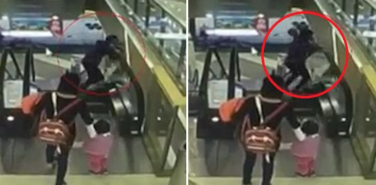 Chinese Baby Accidentally Dropped 3 Floors Down To His Death From Escalator - World Of Buzz 2