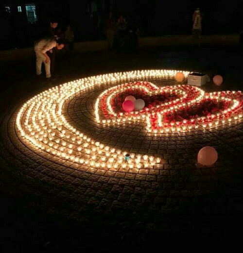 Chinese Guy Sets Up Candlelight Proposal, But Campus Security Came First - World Of Buzz 1