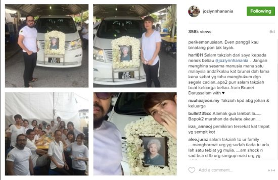 Johan And His Wife Pay Last Respects To Chinese Grandma, Criticized By Netizens - World Of Buzz