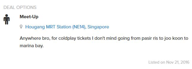Malay Guy Desperate To Buy Coldplay Tickets, Puts Up Hilarious Post On Carousell - World Of Buzz 2