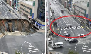 MASSIVE Japanese Sinkhole Completely Filled And Opened In 1 Week - World Of Buzz 4