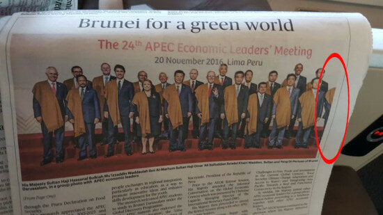 Najib Razak Cropped Out Of The Picture by Bruneian Paper - World Of Buzz 1