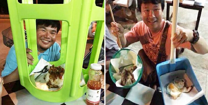 People Are Weirdly Eating Food Out Of Household Items In This Thai Stall - World Of Buzz 2