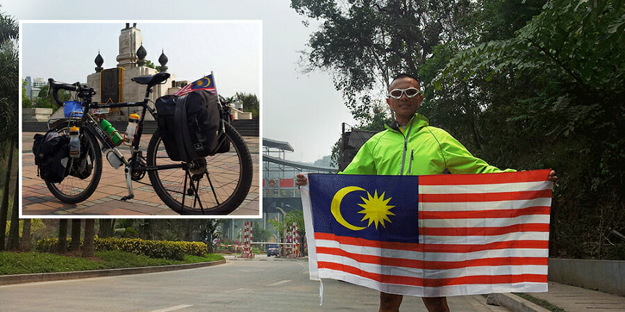 The Malaysian who pedaled his way to London - World Of Buzz 7