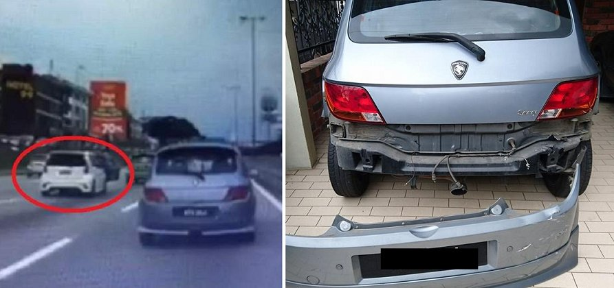 This White Myvi Caused A Massive Jam And A Six-Car Accident On The LDP - World Of Buzz 7