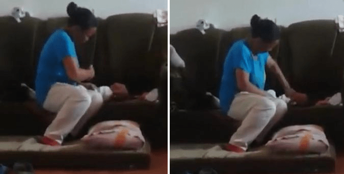 Video Shows A Woman HITTING A Young Baby's Face For One Minute Non-Stop! - World Of Buzz 4