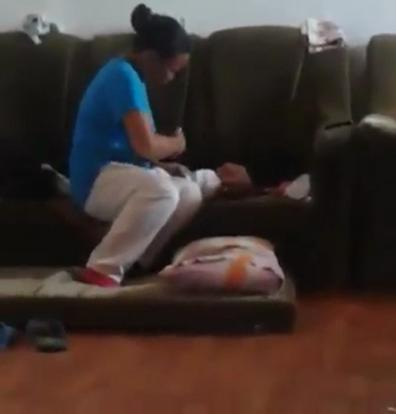 Video Shows A Woman HITTING A Young Baby's Face For One Minute Non-Stop! - World Of Buzz
