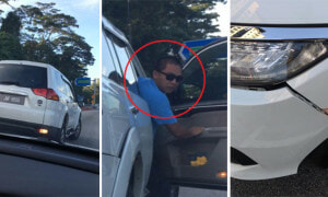 Angry Guy Reversed Into A Lady's Car In The Middle Of Road - World Of Buzz 9