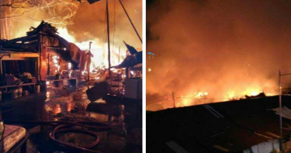 Catastophic Fire Breaks Out At Old Klang Road, Destroys 25 Homes - World Of Buzz