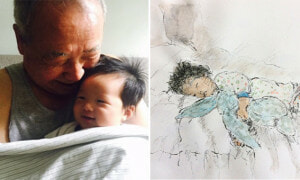 Grandpa Share Drawings On Instagram For Grandkids 17700km Away - World Of Buzz 5