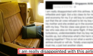 Kiamsiap S'porean Buys Wife Business Class Tickets, Shames Airlines For 'Separating' Son - World Of Buzz