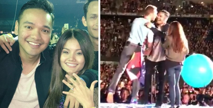 Malaysian Man Proposed To His Girlfriend At Coldplay Concert In Melbourne - World Of Buzz 4